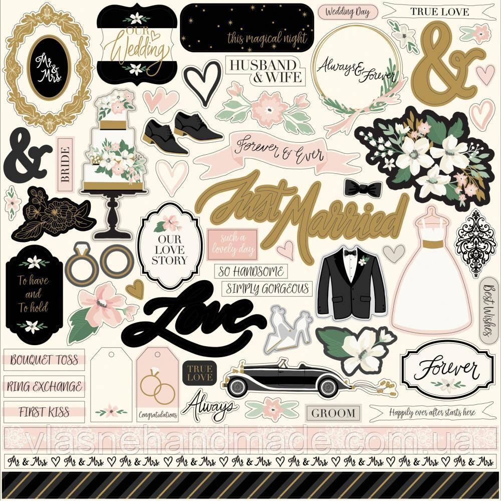 Наклейки - Wedding Day - Echo Park - 30x30