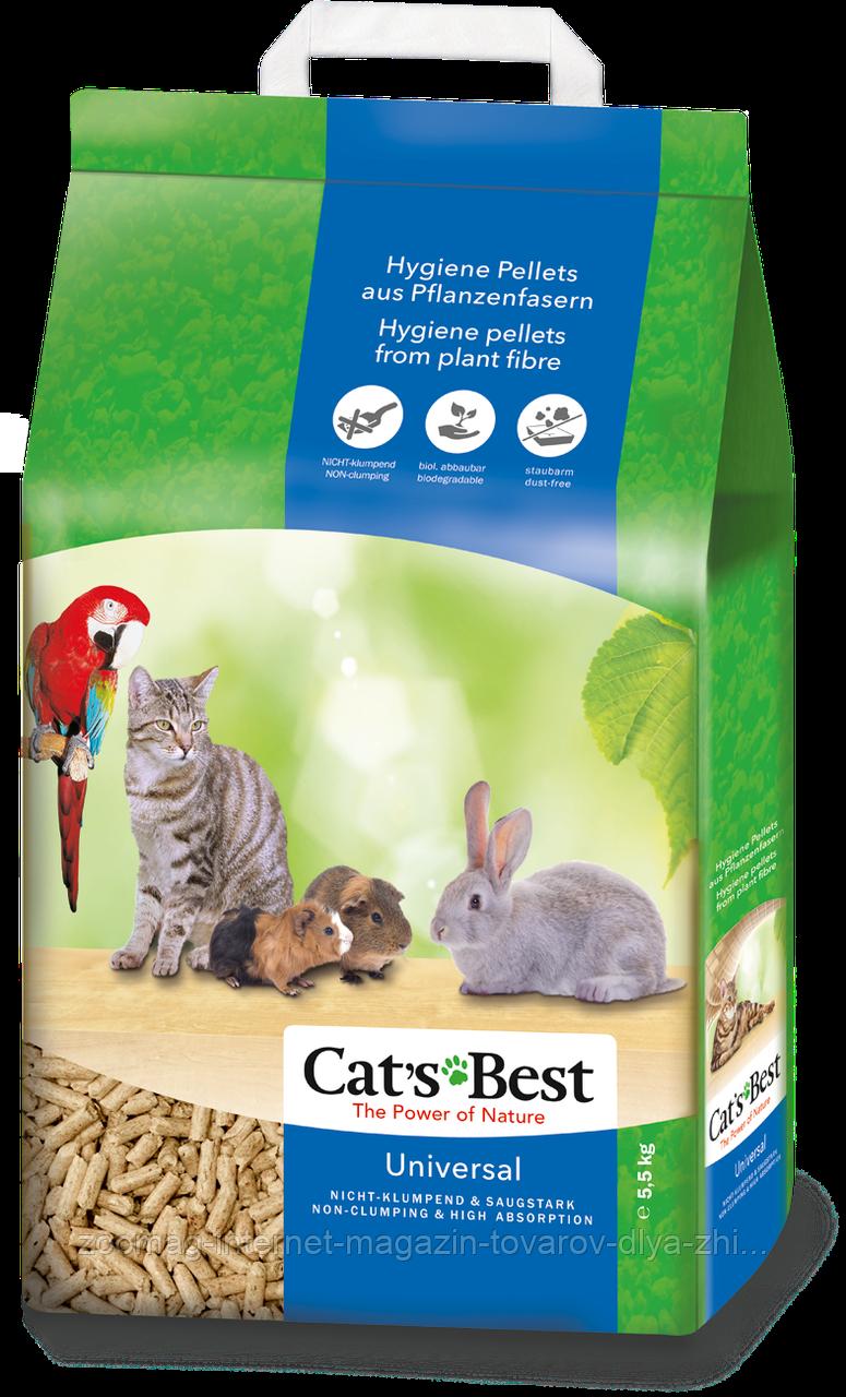 """Деревне наповнювач для тварин і птахів """"cat's Best Універсал"""" (5,5 кг) Rettenmaier™"""