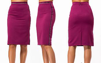 / Размер 42,44,46,48,50 / Женская юбка классическая 23297 / цвет марсал