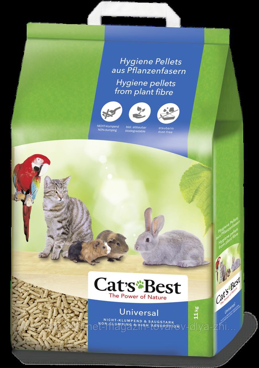 """Деревне наповнювач для тварин і птахів """"cat's Best Універсал"""" (11 кг) Rettenmaier™"""