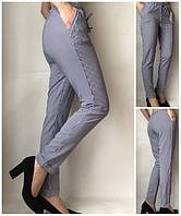 Летние женские брюки штаны молодежные Султанки А17 синяя полоска