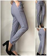 Літні жіночі штани штани молодіжні Султанки А17 синя смужка