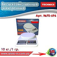Весы хозяйственные электронные 10 кг./1 гр. Technics (70-696)