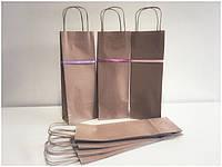 Бумажный пакет с ручками 135*80*370
