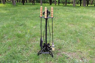 Мангальный набор (щипцы для углей, кочерга, совочек, щетка), фото 2