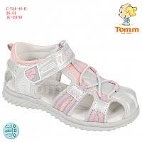 Летние босоножки, Сандалии закрытый носок для девочек Том.М. размер 26-31