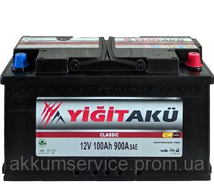 Аккумулятор автомобильный Yigit Aku Classic 100AH R+ 900A