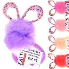 KATTi Резинка для волос 26 278 средняя Ушки цветная сетка-шар (1шт) Ш0,6Д4,5