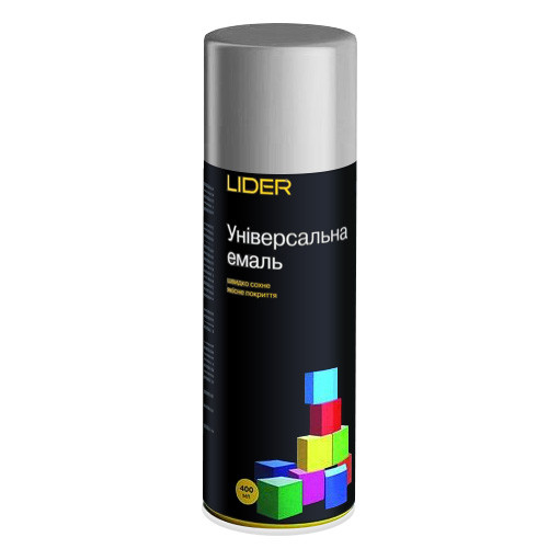 Эмаль универсальная Lider 400мл темно-серый (RAL 7024)