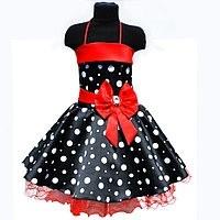 Нарядное платье в горох для девочки  Сзади корсет на молнии и шнуровке. Пояс с бантом.Украшен стразами и бусин