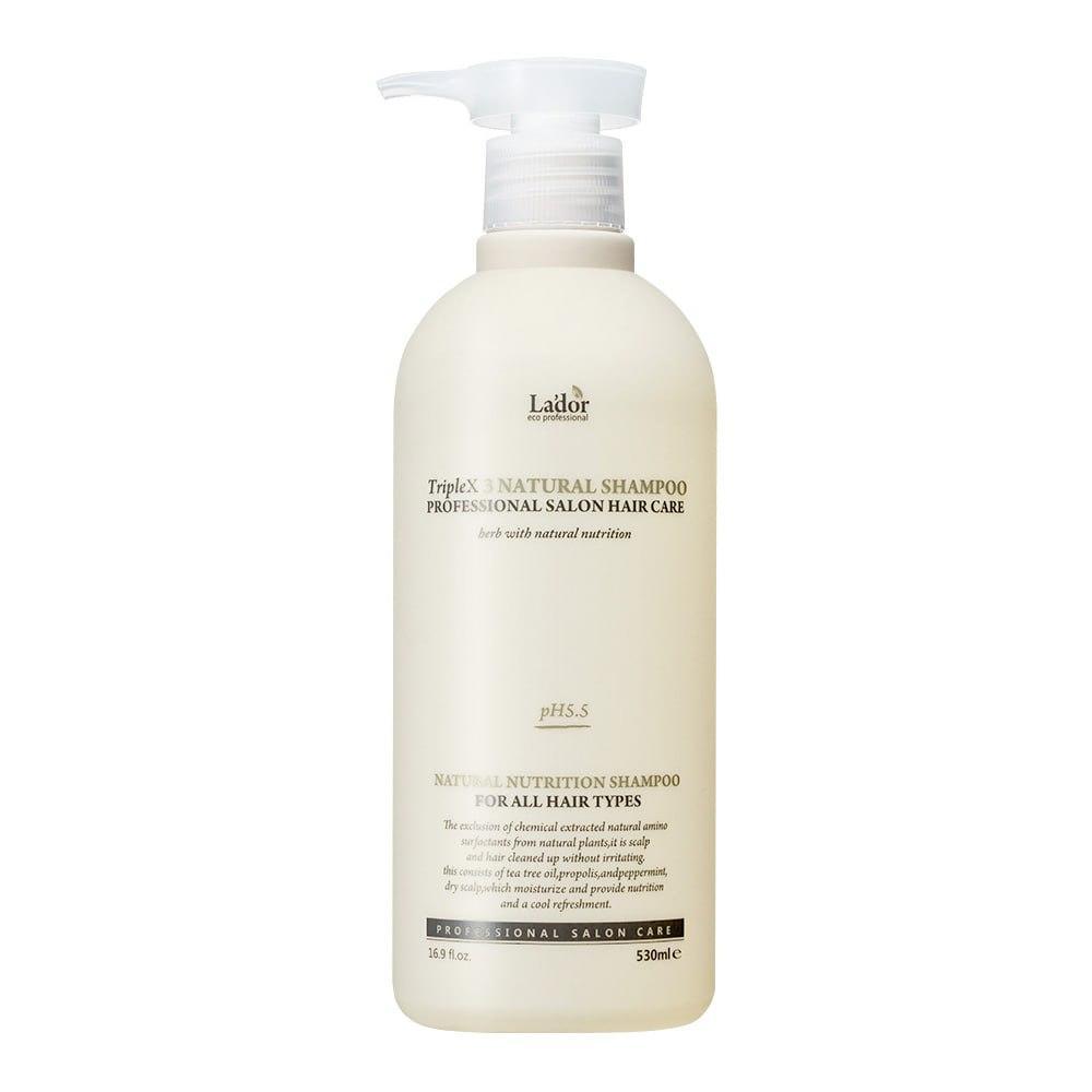 Безсульфатный органический шампунь La'dor Triplex Natural Shampoo 530 ml