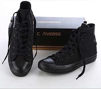 Кеды Converse ALL STAR чёрные высокие 36-45 размеры, Вьетнам, фото 1
