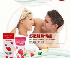 Крем Горячей Поцелуй 50мл, Съедобная Смазка (клубника),  для орального секса