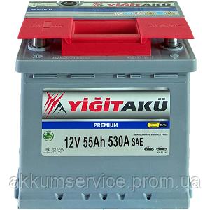 Аккумулятор автомобильный Yigit Aku Premium RED 55AH L+ 530A