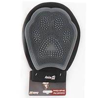 AnimAll GroomАнималл Грум рукавица массажная для вычесывания шерсти MG9608 Серая