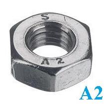 Гайка шестигранная DIN 934 М18 нержавеющая сталь А2 (50 шт/уп)