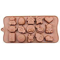 Форма силиконовая для конфет Животные, фото 1