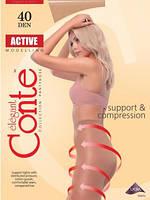 Колготки женские Conte Active 40 размеры 2/3/4