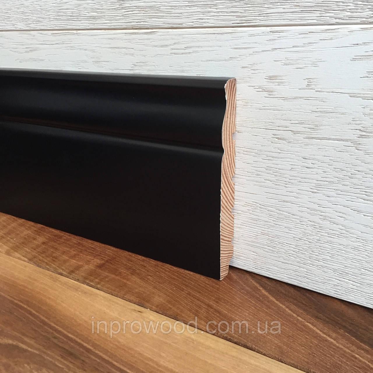 """""""Класик"""" 120х16 мм, Чорний дерев'яний плінтус Сосна"""