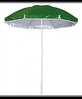 Пляжный уличный круглый зонт 1,80 м зелёного цвета с Anti-UV защитойм