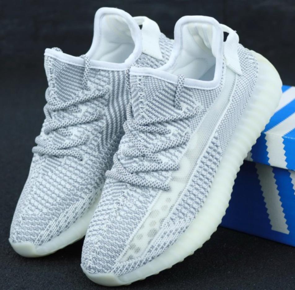 Мужские кроссовки Adidas Yeezy Boost 350 White (Адидас Изи Буст 350 рефлектив)
