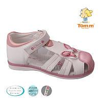 Летние босоножки, Сандалии закрытый носок для девочек Том.М. размер 25-30