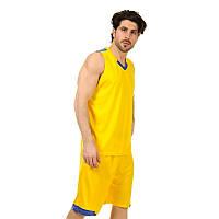 Форма баскетбольная мужская LD-8002-1 (PL, желтый-синий)