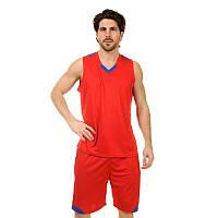 Форма баскетбольная мужская LD-8002-2 (PL, красный-синий)