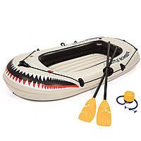 Лодка надувная Bestway 61108 , 197 х 115 см, с веслами и насосом