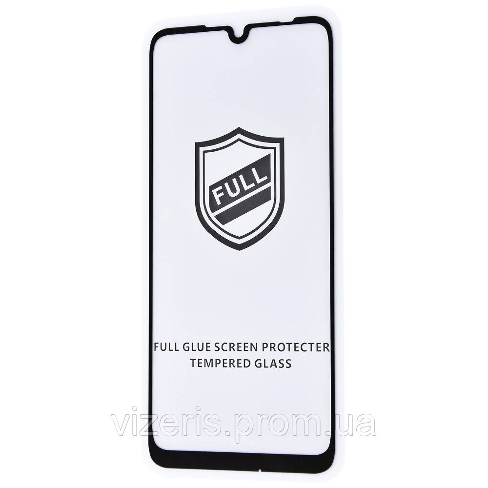 Защитное стекло на Xiaomi Redmi Note 7  Full Glue HQ (тех.пак) Черное