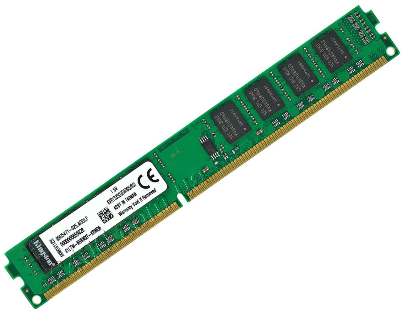 DDR3 8Gb оперативна пам'ять PC3-10600 1333МГц універсальна, для INTEL і AMD ДДР3 8 Гб KVR1333D3D4R9S/8GI