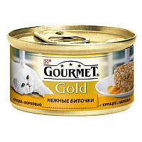 Gourmet Gold Ніжні биточки з куркою і морквою 24х85г