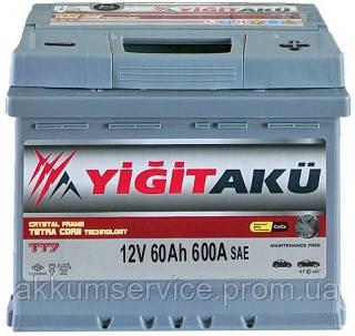 Акумулятор автомобільний Yigit Aku Premium 60AH R+ 600A