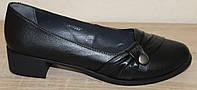 Туфли черные женские кожаные от производителя модель СТТ51Р