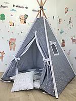 Детский вигвам «Безлунная ночь»с ковриком и подушечкой