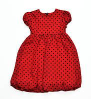 """Плаття червоне в чорн.горошок """"Балончик"""""""