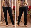 Женские льняные брюки с карманами Батал до 54 р 19048-2