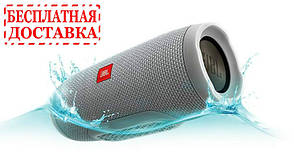 С.Bluetooth колонка Charge 3 серого цвета