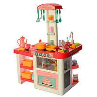 Игровая детская кухня 889-63, вода , свет, звук, 55 предмета