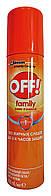 Аэрозоль от комаров Off! Family Офф! Фэмили - 100 мл.