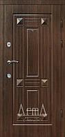 Двери входные Арма орех темный тип 3 модель 301 квартира