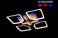 Люстра светодиодная с диммируеммым пультом  5543-4 Color LED (черная,белая,коричневая)