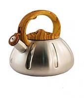 Чайник из нержавейки со свистком А-Плюс 1337-WK 3л., фото 1