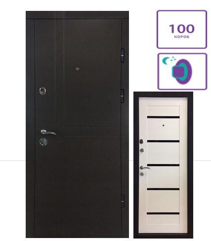Входные двери ПК-180/161 МДФ/Царга белая
