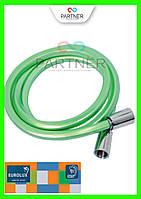 Шланг для душа EUROLUX Е-03, ПХВ 150 см, квадратное сечение, зеленый