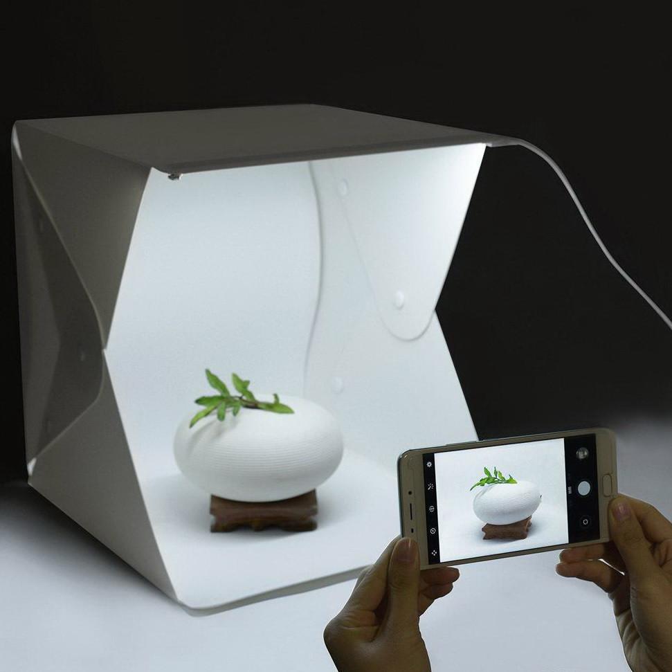 Мини фото студия 30*30*30 см плюс 2 фона и сумка для хранения. Фотобокс для предметки. Фотокуб. Лайткуб