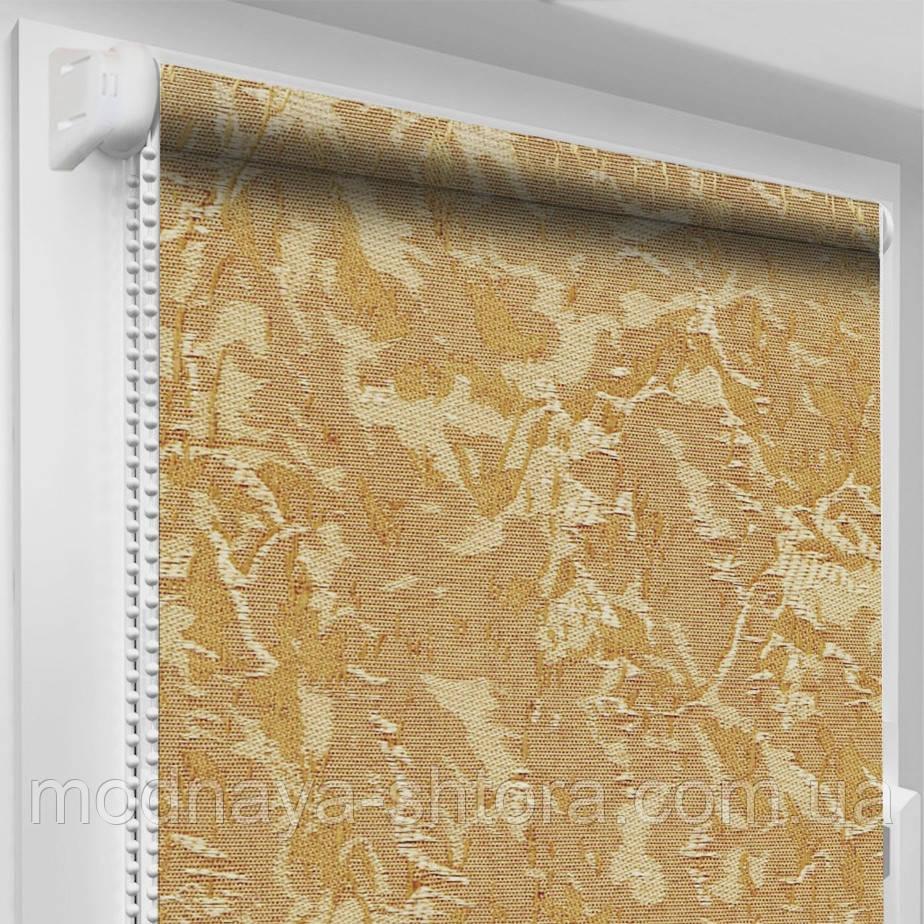 """Тканинні рулонні штори """"Oasis"""" венеція (світло-коричневий), РОЗМІР 47,5х170 см"""