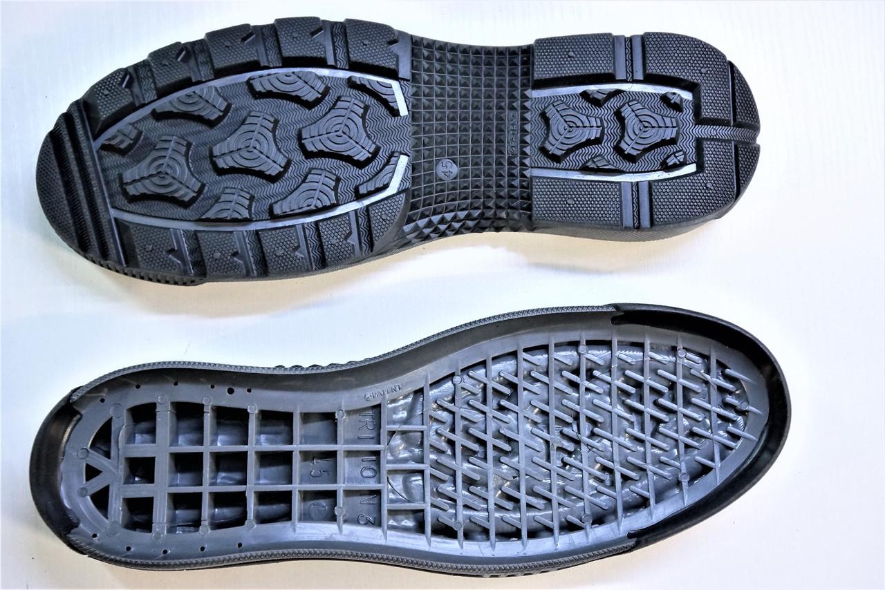 Подошва для обуви мужская Тритон-3 черно-серая. р.40-45
