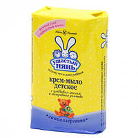 Крем-мыло детское Ушастый нянь с оливковым маслом и ромашкой 90 грамм