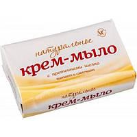Крем-мыло Натуральное с протеинами шелка Невская Косметика 90 грамм